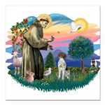 "St.Francis #2/ GSHP Square Car Magnet 3"" x 3&"