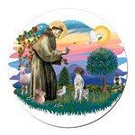 St.Francis #2/ GSHP Round Car Magnet
