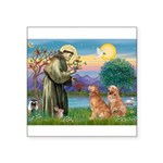 StFrancis-2Goldens.png Square Sticker 3