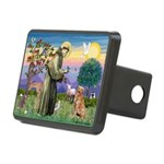 Saint Francis' Golden Rectangular Hitch Cover
