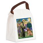 St Francis & Golden Canvas Lunch Bag