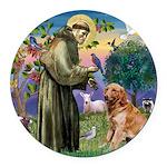 St Francis & Golden Round Car Magnet