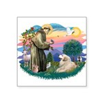 """St.Francis #2/ Pyrenees#2 Square Sticker 3"""" x"""