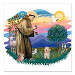 St.Fran. #2/ Havanese pup Square Car Magnet 3
