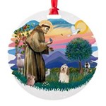 St.Francis #2/ Havanese(#1) Round Ornament