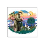 St.Francis #2/ Italian Greyho Square Sticker 3&quo