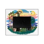 St.Francis #2 / Black Lab Picture Frame