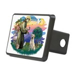 St.Francis #2/ Yellow Lab Rectangular Hitch Cover
