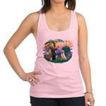 St.Francis #2/ Yellow Lab Racerback Tank Top