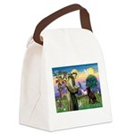 St Francis Chocolate Lab Canvas Lunch Bag