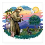 St.Francis #2/ Manchester T Square Car Magnet 3&qu