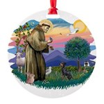 St.Francis #2/ Manchester T Round Ornament