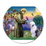 ST. FRANCIS + OES Round Car Magnet