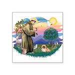 St.Francis #2 / Pekingese #1 Square Sticker 3&quot