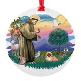 St.Francis #2 / Pekingese #1 Ornament