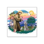 "St.Fran #2/ Poodle (Std S) Square Sticker 3"""