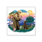 St.Francis #2 / Poodle (ST-Ch Square Sticker 3&quo