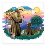 St.Francis #2 / Poodle (ST-Ch Square Car Magnet 3&
