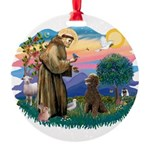 St.Francis #2 / Poodle (ST-Ch Round Ornament