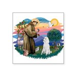 St.Francis #2/ Poodle (Std W) Square Sticker 3&quo
