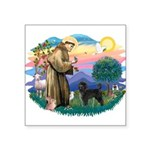 St.Francis #2/ PWD (ret cut) Square Sticker 3&quot