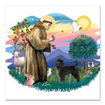 St.Francis #2/ PWD (ret cut) Square Car Magnet 3&q
