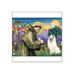 St Francis & Samoyed Square Sticker 3