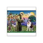 St. Francis/ St. Bernard Square Sticker 3