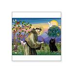 St Francis / Schipperke Square Sticker 3