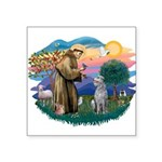 St Francis #2/ S Deer. #2 Square Sticker 3