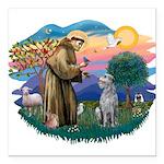 St Francis #2/ S Deer. #2 Square Car Magnet 3