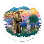 St Francis #2/ S Deer. #2 Round Car Magnet