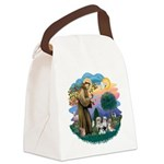 St.Francis #2/ Shih Tzus (4) Canvas Lunch Bag