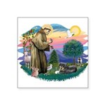 St.Francis #2/ Tibetan Spani Square Sticker 3&quot