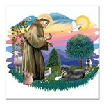 St.Francis #2/ Tibetan Spani Square Car Magnet 3&q