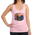 St.Francis #2/ Tibetan Spani Racerback Tank Top