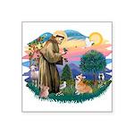 """St.Francis #2/ Welsh Corgi Square Sticker 3"""""""