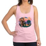 St.Francis #2/ Welsh Corgi Racerback Tank Top