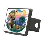 St. Francis / 2 Yorkies Rectangular Hitch Cover