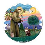 St. Fran (ff) - Maine Coon (# Round Car Magnet