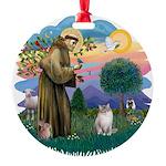 St. Fran (ff) - Ragdoll (Lynx Round Ornament