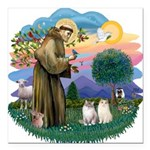 St Fran(f) - 2 Ragdolls Square Car Magnet 3