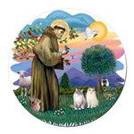 St Fran(f) - 2 Ragdolls Round Car Magnet