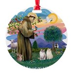 St Fran(f) - 2 Ragdolls Round Ornament
