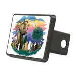 St Francis 2 - 7 Cats.png Rectangular Hitch Cover
