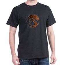 Tree Circle Art 2 Black T-Shirt