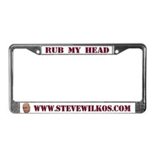 """Rub My Head"" License Plate Frame"
