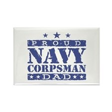 Navy Corpsman Dad Rectangle Magnet