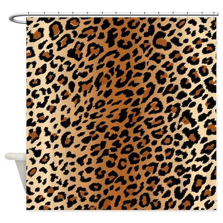 Leopard print shower curtain by bestshowercurtains