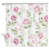 Beautiful Floral Pattern Shower Curtain